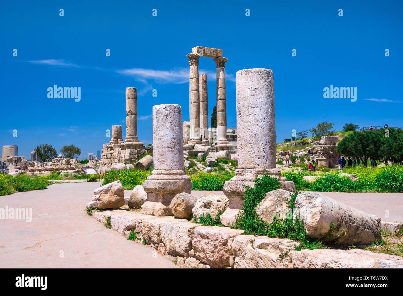 Amman Citadel Hand Stock Photos & Amman Citadel Hand Stock Images
