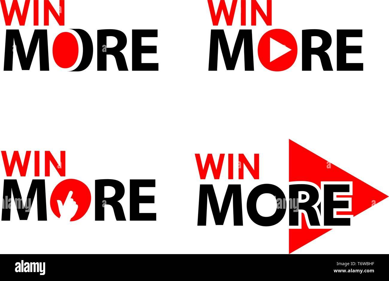 Win more. Creative lettering vector illustration. illustration in vector format. - Stock Vector