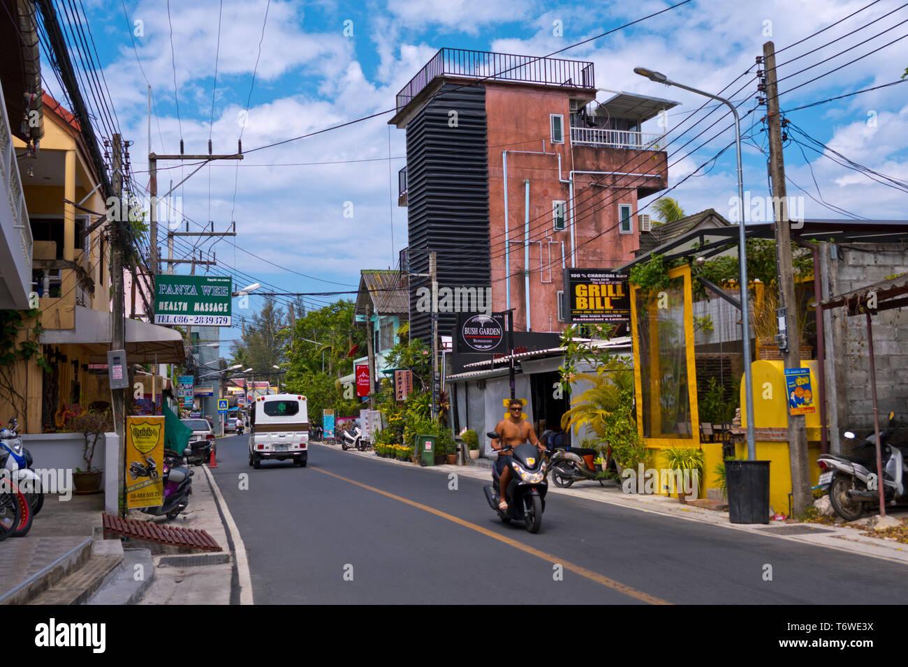 Rim Hat Road, Kamala, Phuket island, Thailand Stock Photo
