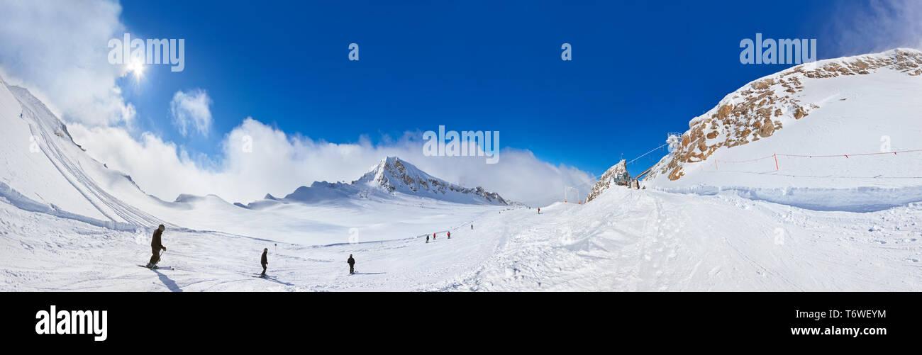 Mountains ski resort Kaprun Austria - Stock Image