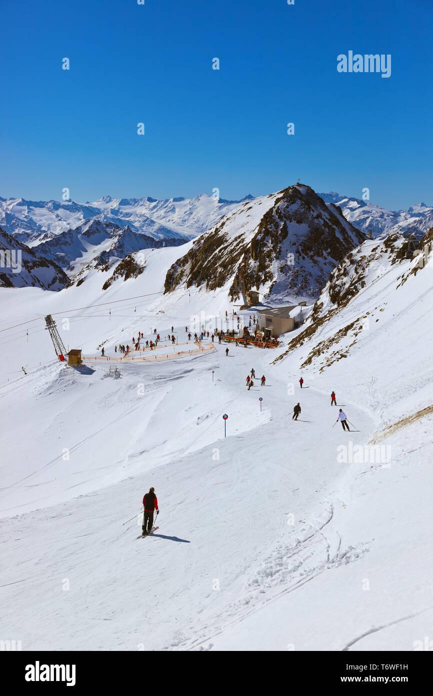 Mountains ski resort - Innsbruck Austria - Stock Image