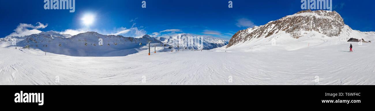 Mountain ski resort Hochgurgl Austria - Stock Image