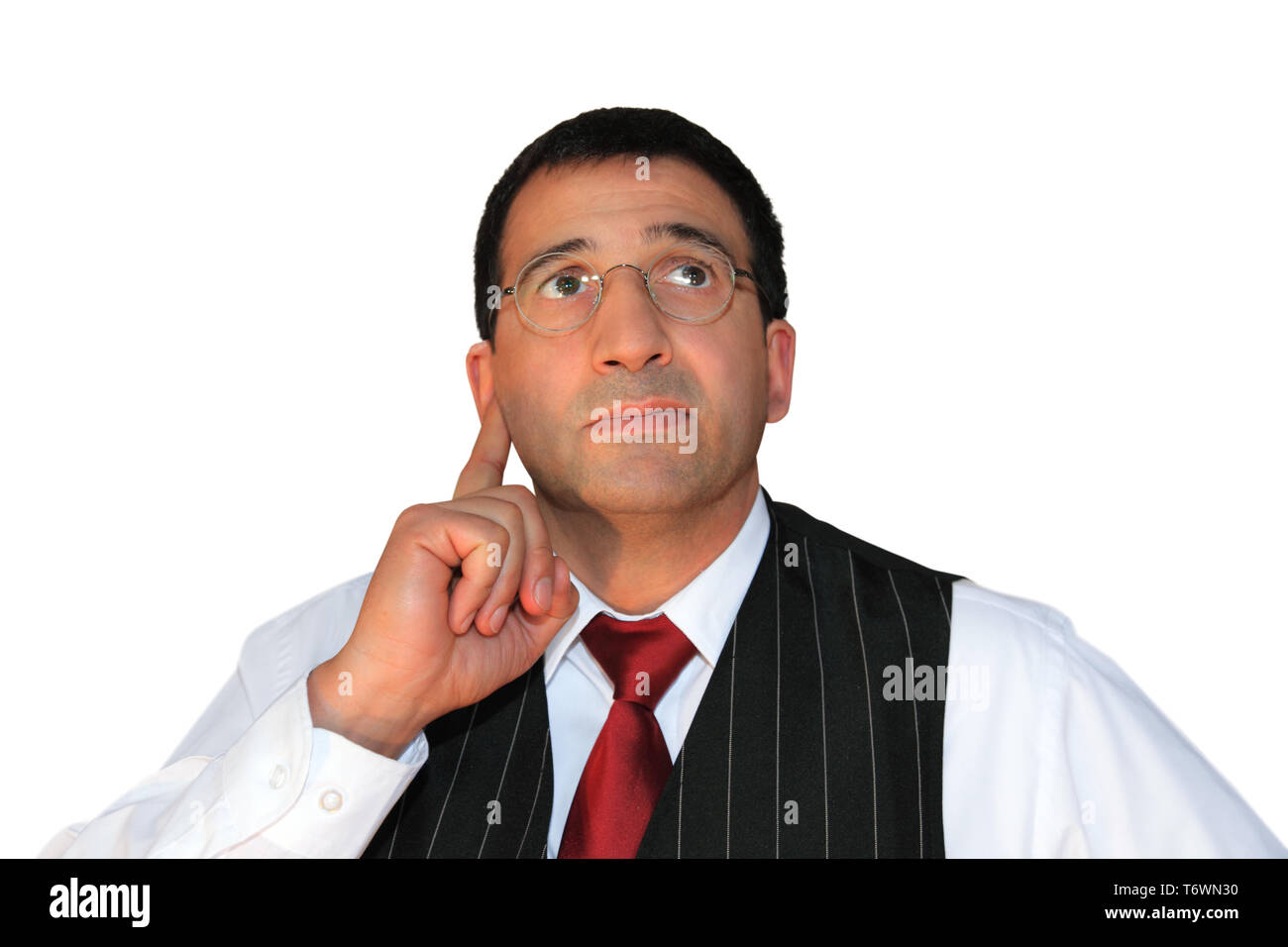 man considered - Stock Image