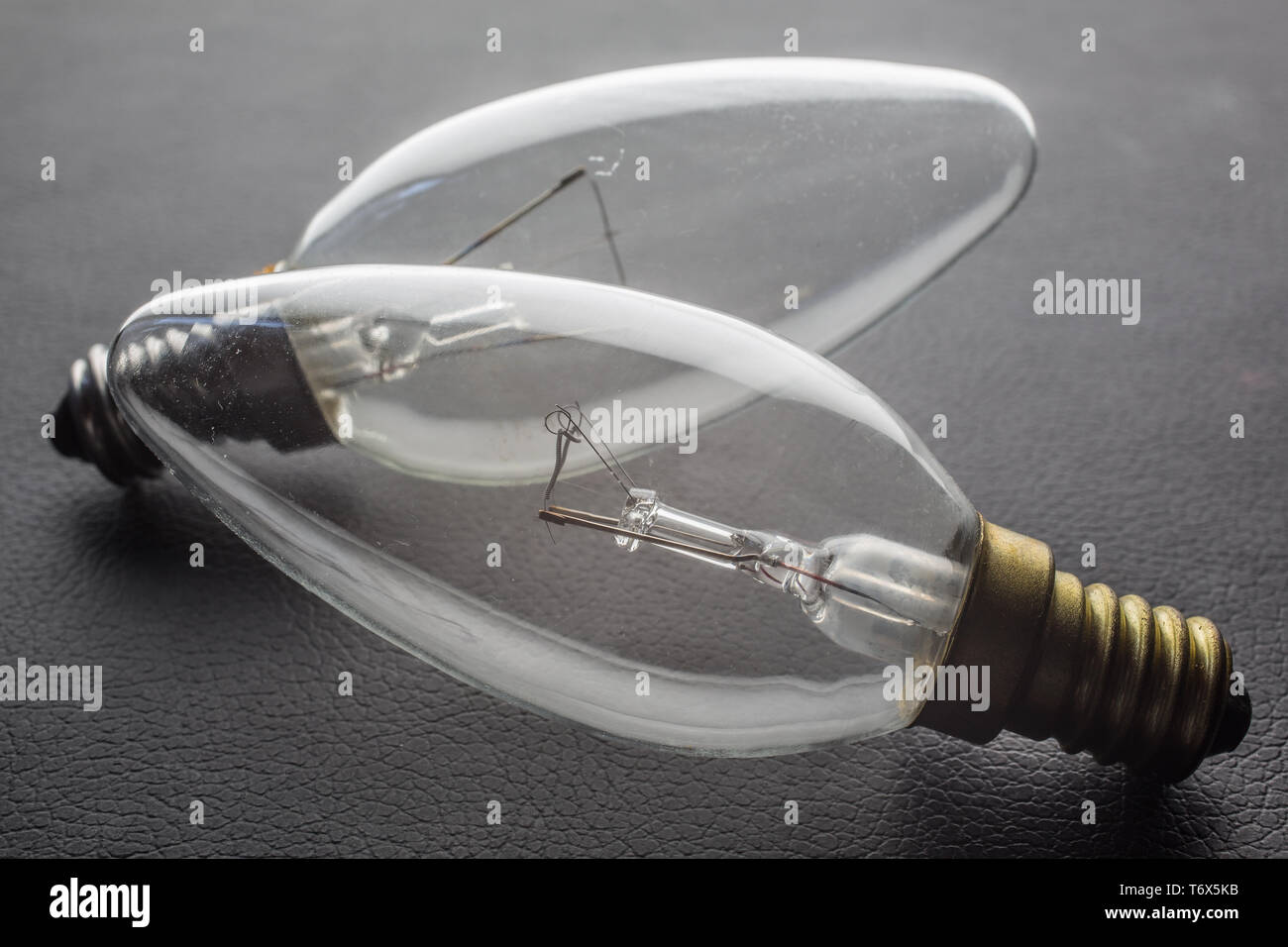 elongated bulbs - Stock Image