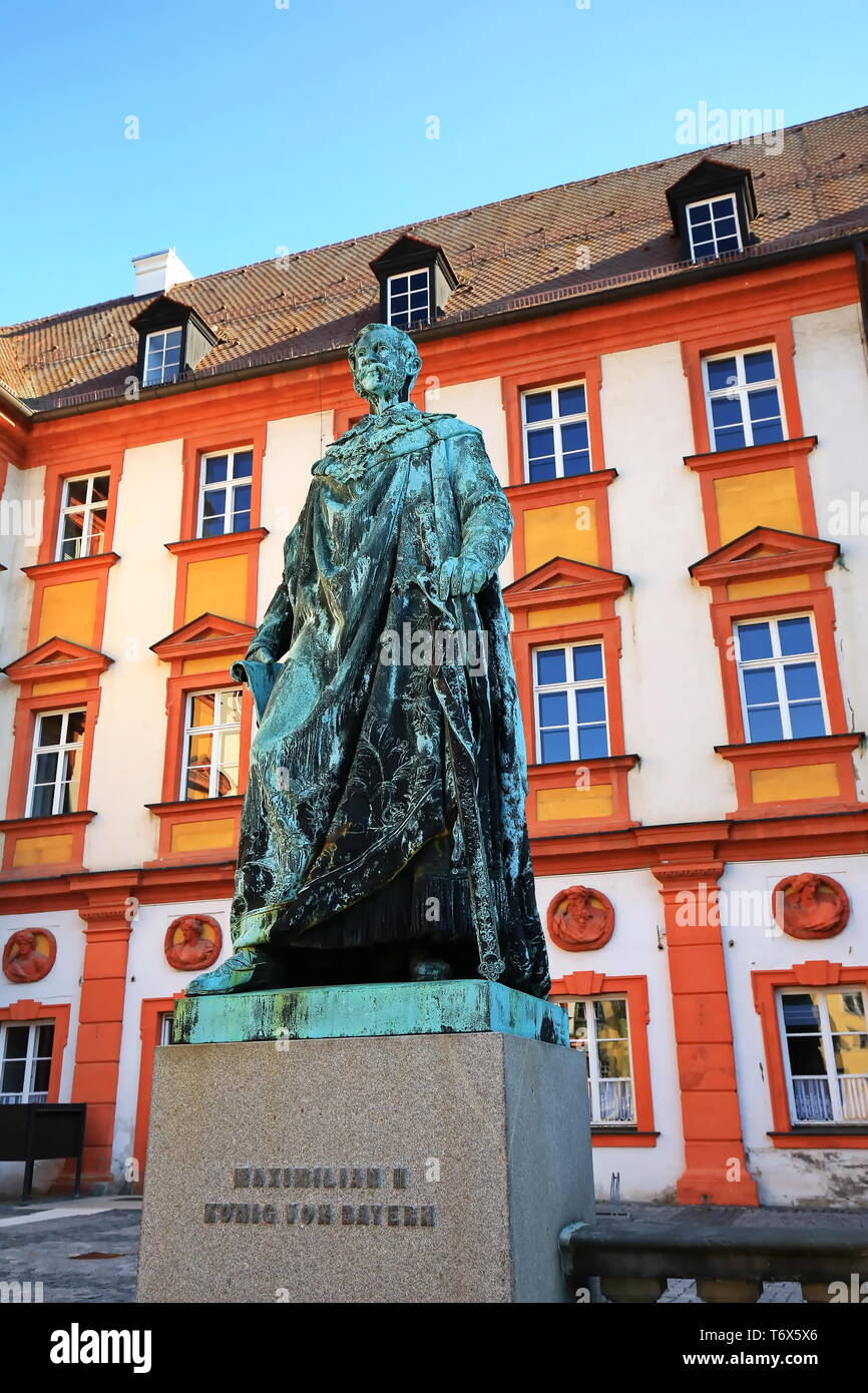 Bayreuth is a city in Germany with many historical attractions - Stock Image
