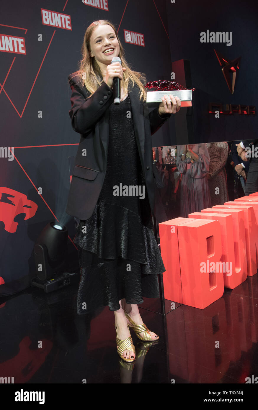 Berlin, Germany  02nd May, 2019  Actress Luna Wedler, winner of the