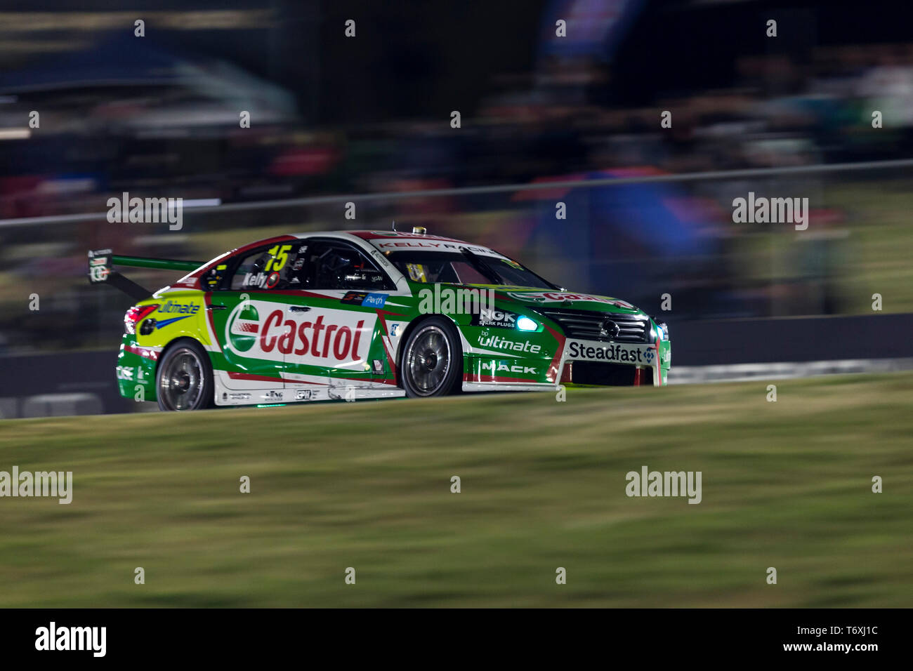 Barbagallo Raceway, Neerabup, Australia. 3rd May, 2019. Virgin Australia Supercars Championship, PIRTEK Perth SuperNight, day 2; Number 15 Castrol Racing Nissan Altima driven by Rick Kelly during Race 11 Credit: Action Plus Sports/Alamy Live News Stock Photo