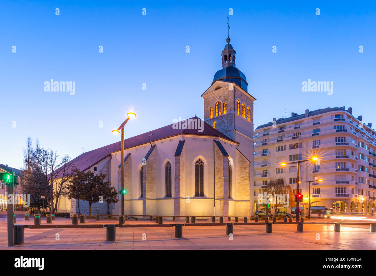 Church of St Maurice, Annecy, France Stock Photo