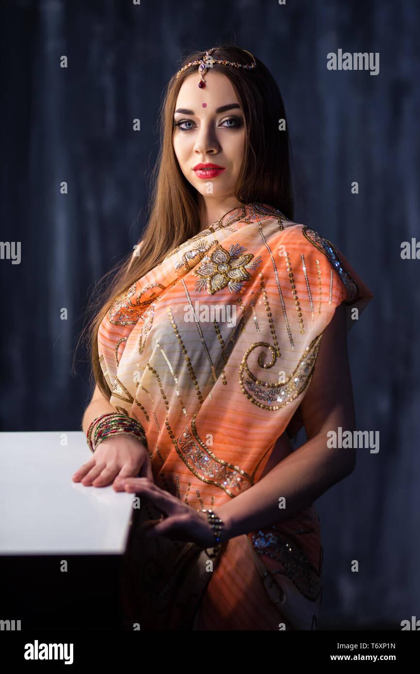 Portrait of elegant Indian woman Stock Photo