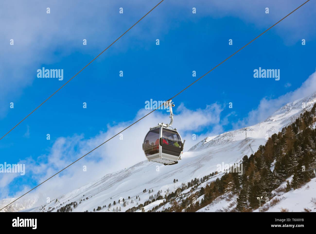 Mountain ski resort Obergurgl Austria - Stock Image