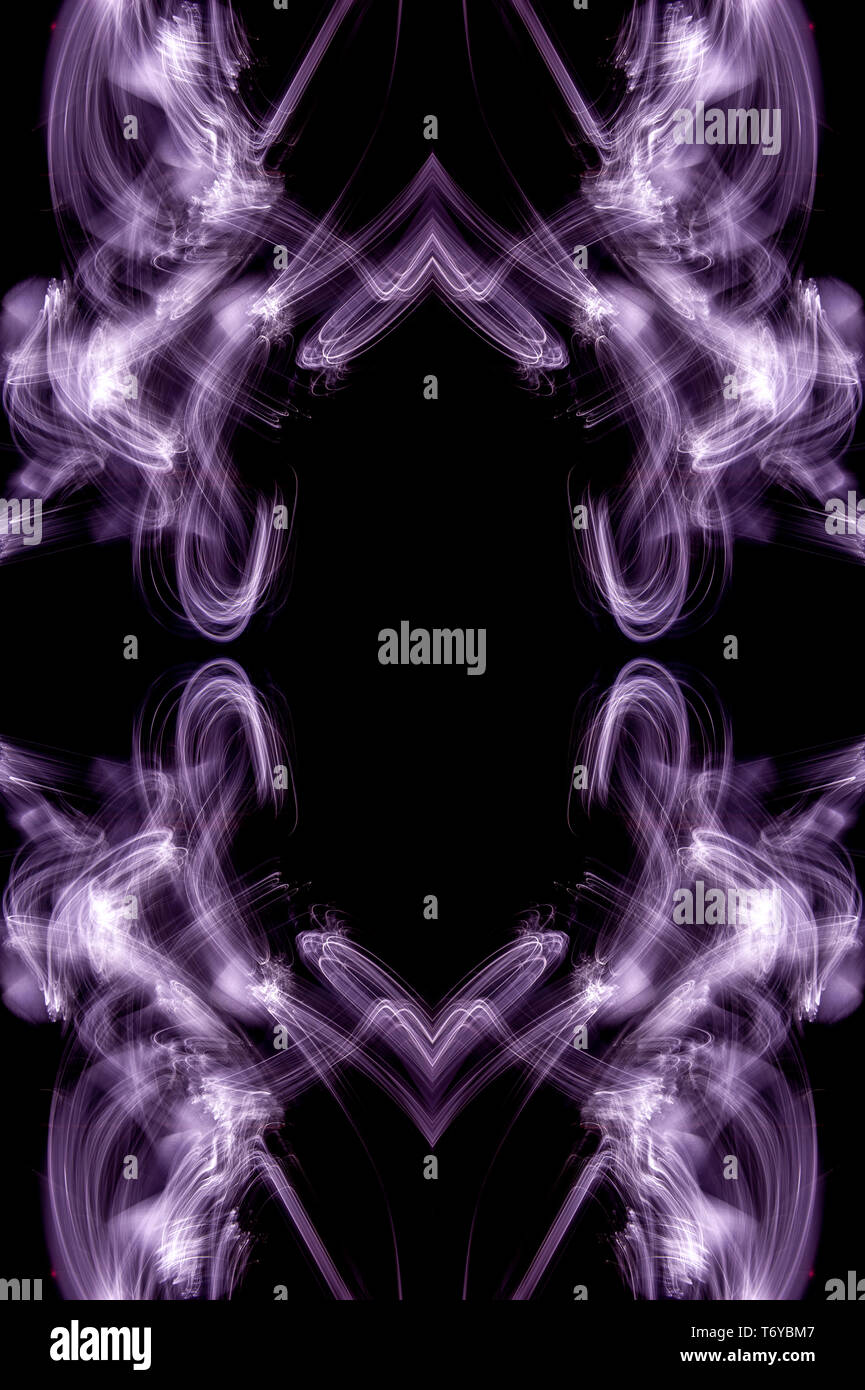 Kaleidoscopic psychedelic pattern. Abstract symmetric luminous background. - Stock Image