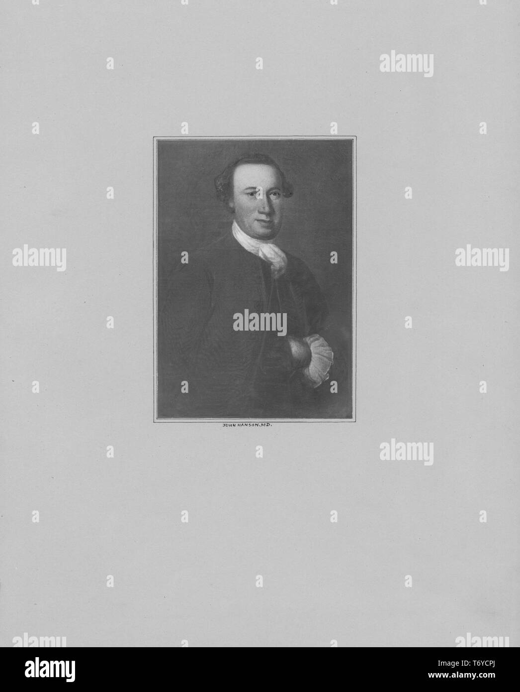 Engraved Portrait Of John Hanson Signer Of The Articles Of Confederation And The First President Of The Continental Congress An American Merchant And Public Official From Port Tobacco Charles County Maryland 1845