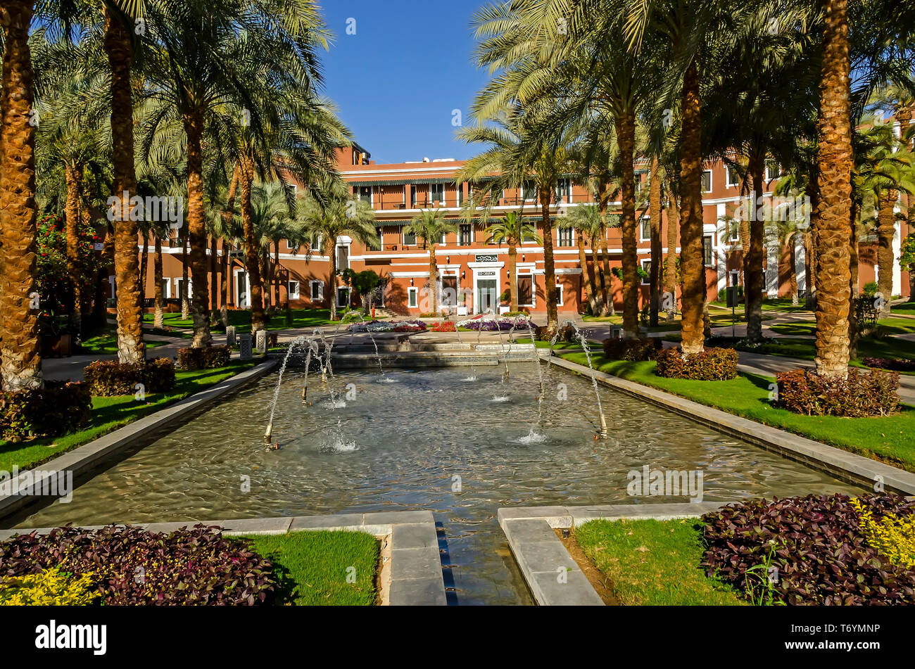 Sofitel Legend Old Cataract Hotel Main Entrance With Palm