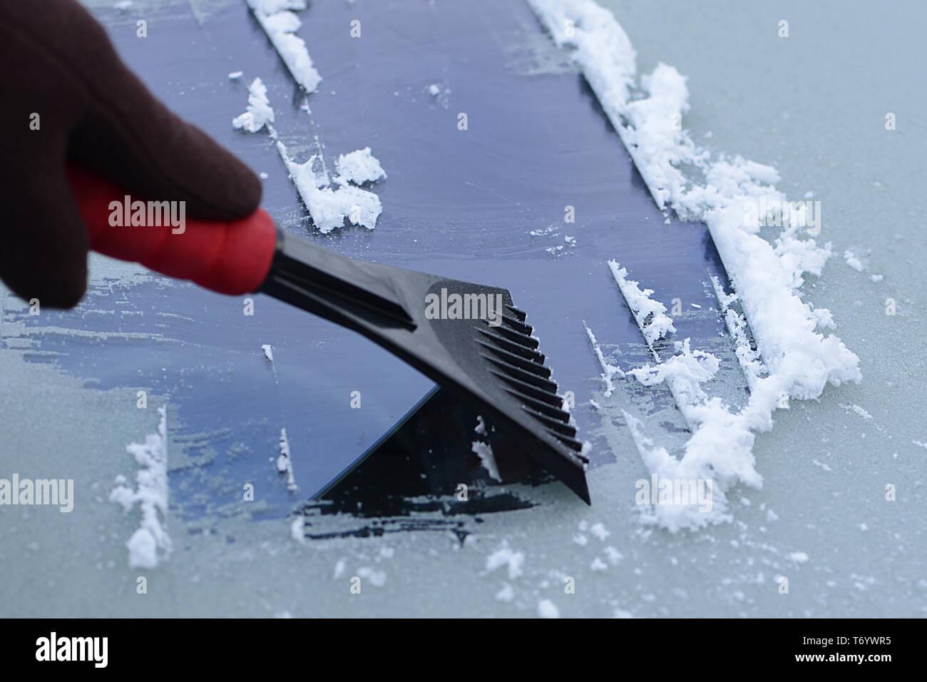 Ice scraper 8 - Stock Image