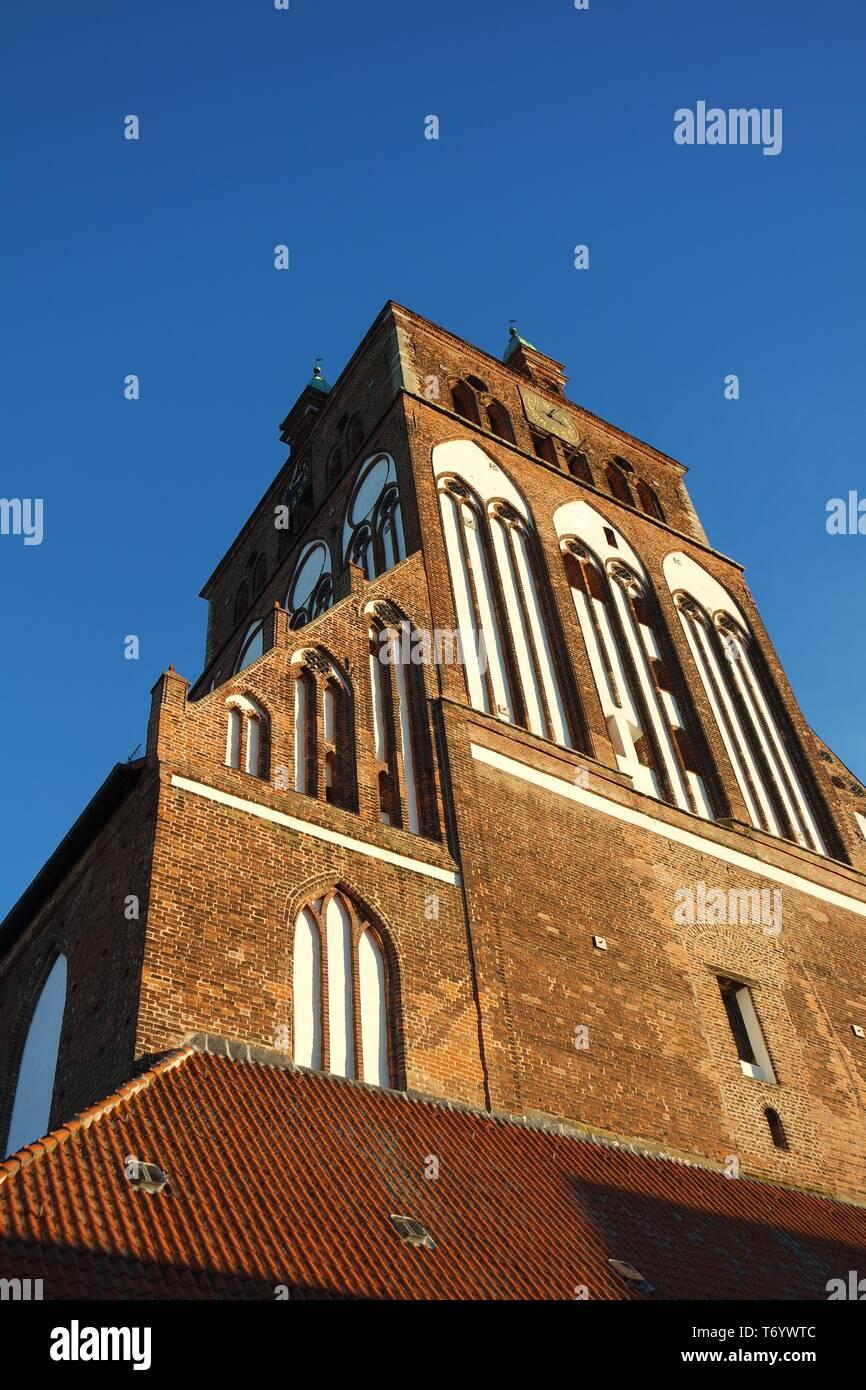 Brick Gothic, Marienkirche Greifswald - Stock Image