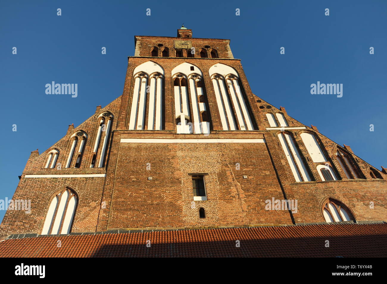 Brick Gothic, Marien church Greifswald - Stock Image