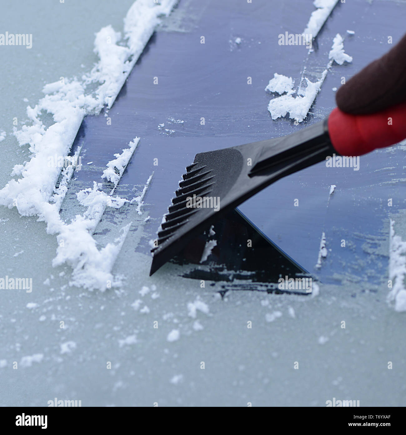 Ice Scraper 9 - Stock Image