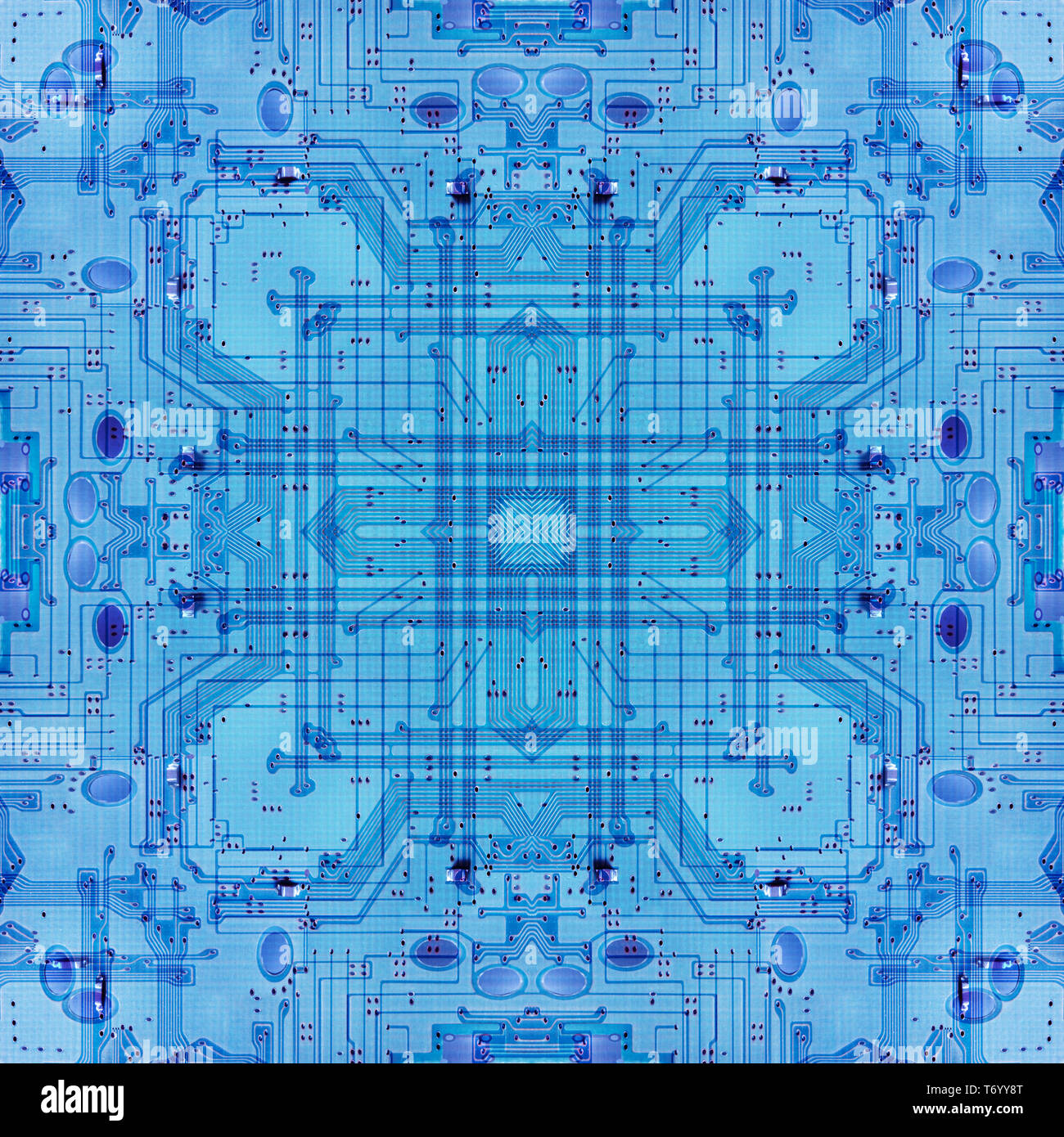 Abstract Illustration Electrical Circuit Board Stock Photos