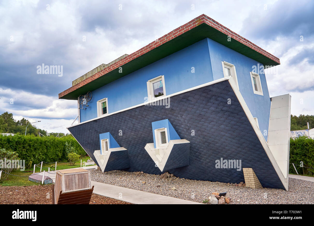 House on the head at the Baltic Sea. Usedom Island in Mecklenburg-Vorpommern Germany. Stock Photo