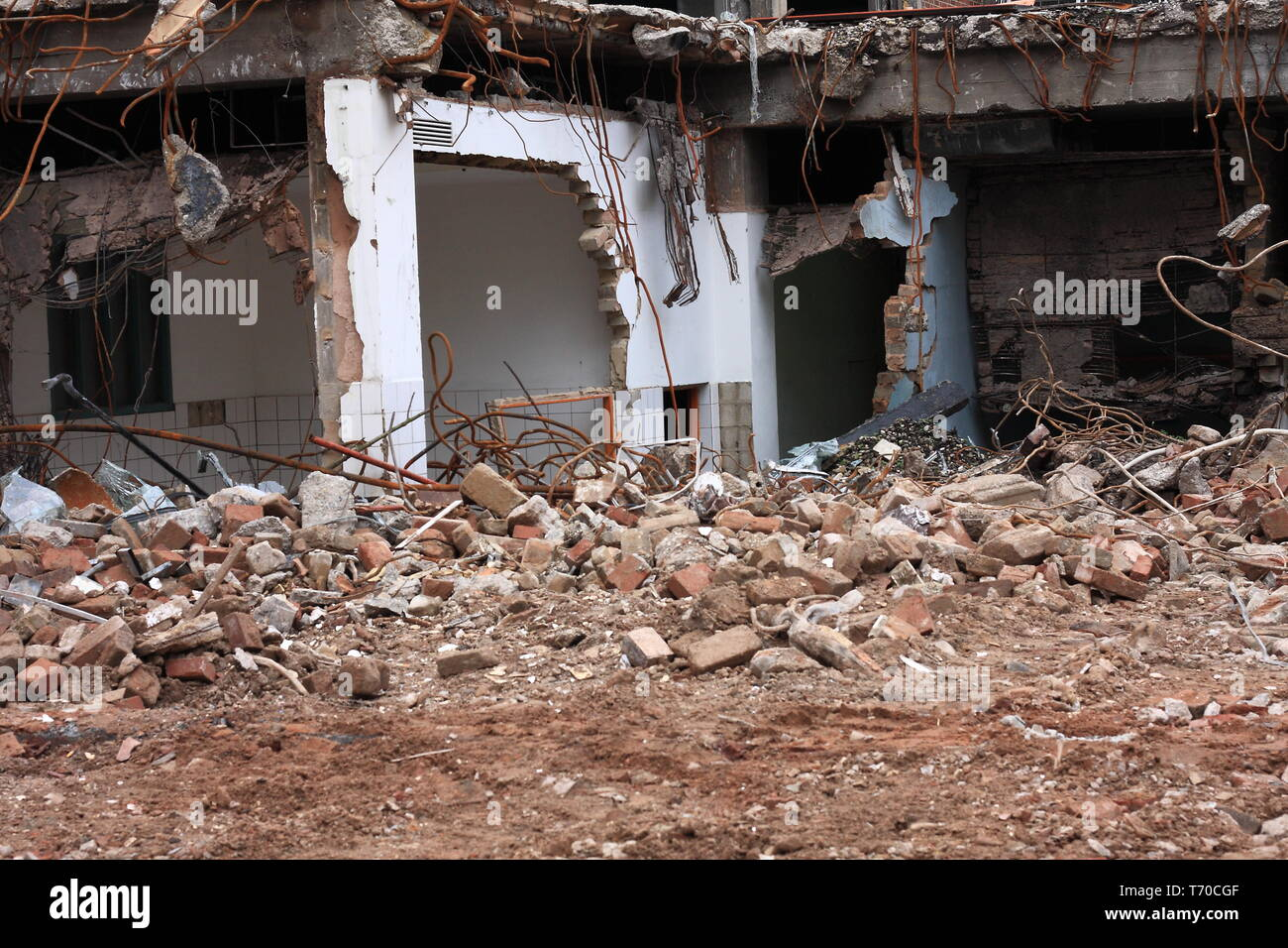 Gutted building - Stock Image