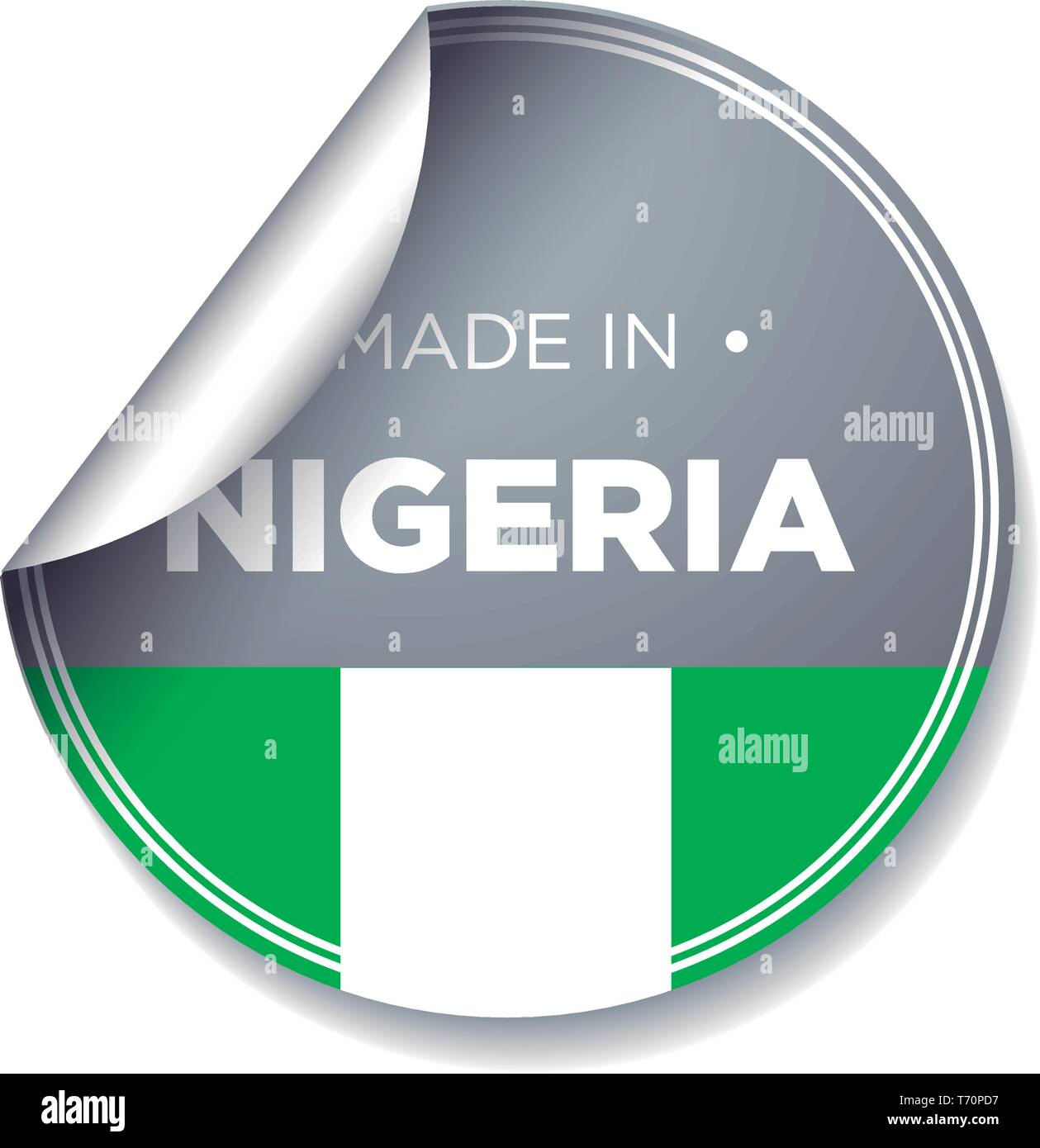 MADE IN NIGERIA - Stock Vector