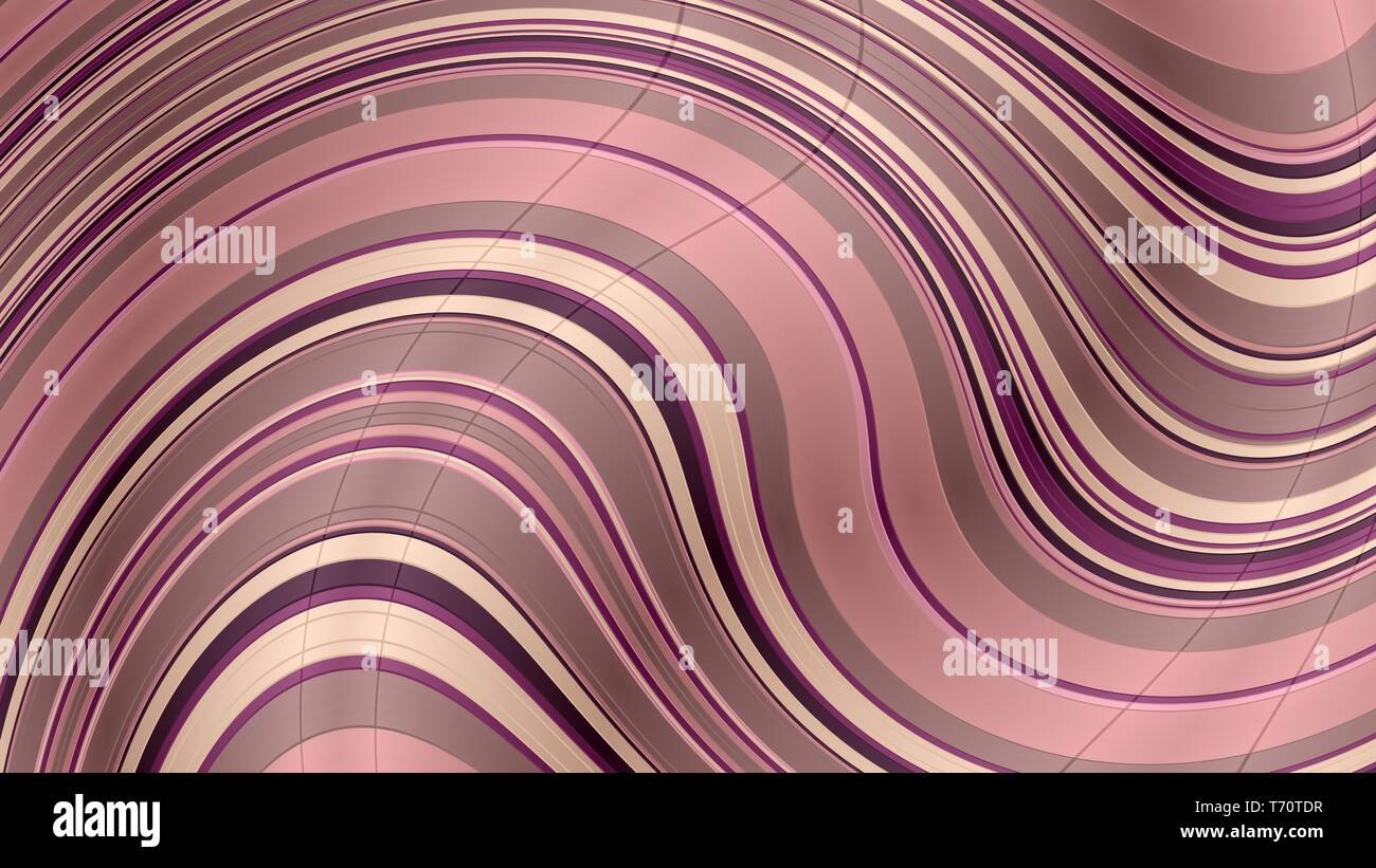 Wavy Background With Rosy Brown Antique Fuchsia And Baby