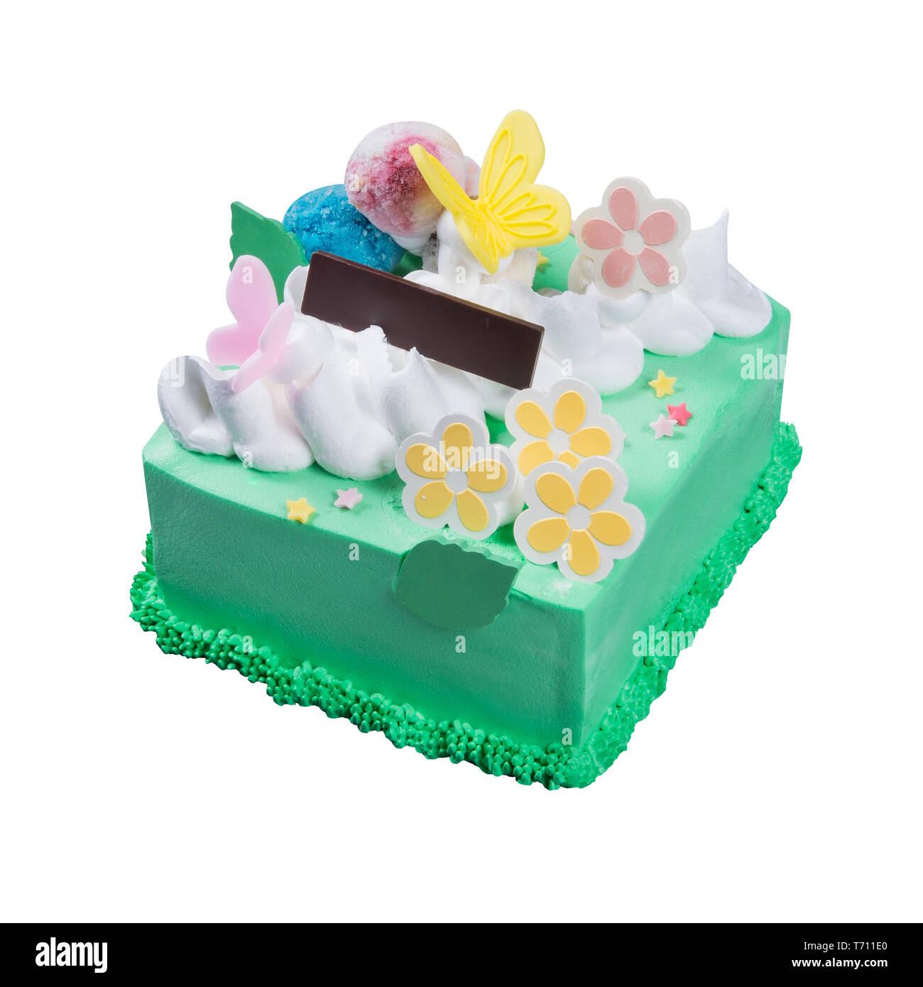 Outstanding Cake Or Ice Cream Birthday Cake On A Background Stock Photo Funny Birthday Cards Online Hendilapandamsfinfo