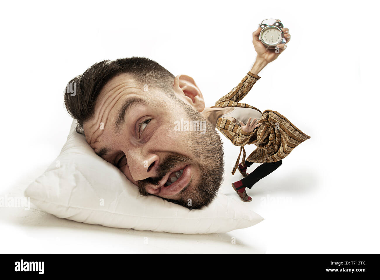 Late For Work Funny White Background Stock Photos & Late For