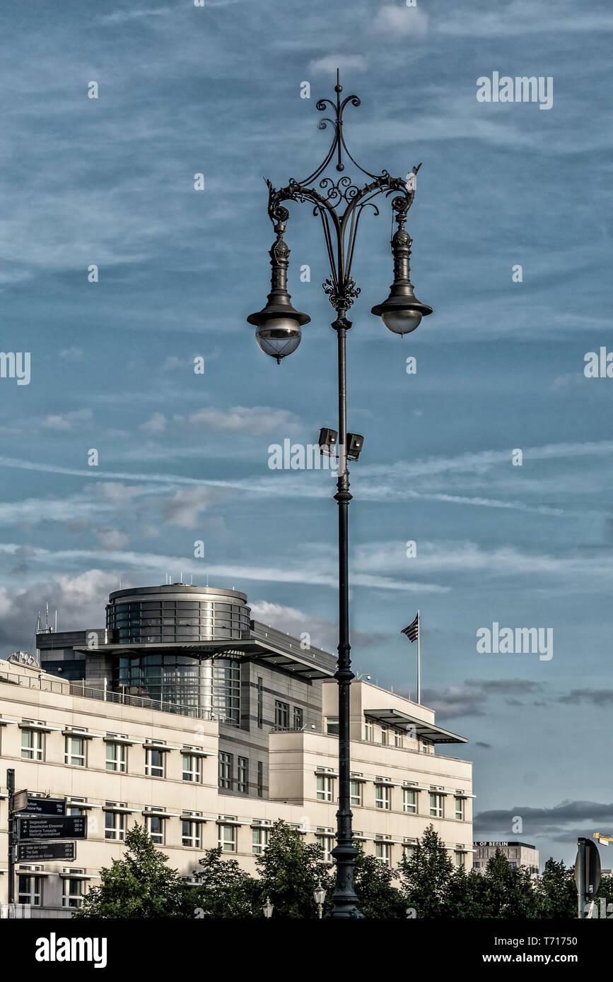US embassy, Berlin, Germany | Amerikanische Botschaft in Berlin - Stock Image