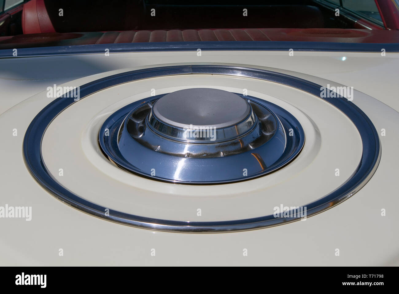 1961 Chrysler Windsor 4 D HT trunk detail - Stock Image