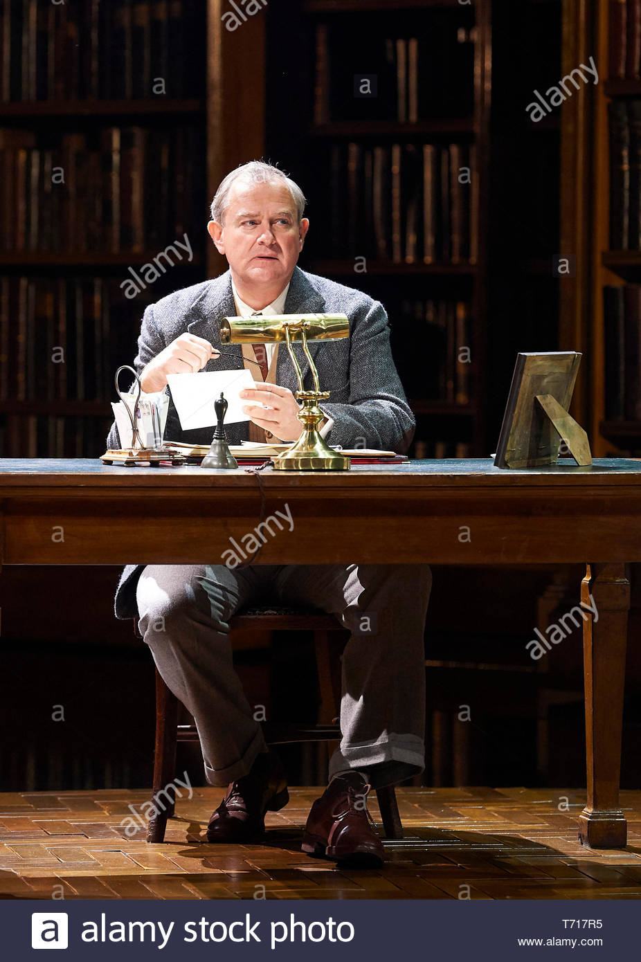 Shadowlands by William Nicholson, directed by Rachel Kavanaugh. With Hugh Bonneville as C S Lewis. Opens at The Chichester Festival Theatre on 2/5/19 pic Geraint Lewis EDITORIAL USE ONLY - Stock Image