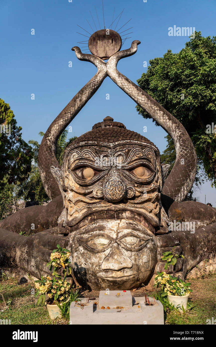 Buddha Park, Xieng Khuan, Vientiane, Laos, Indochina, Southeast Asia, Asia Stock Photo