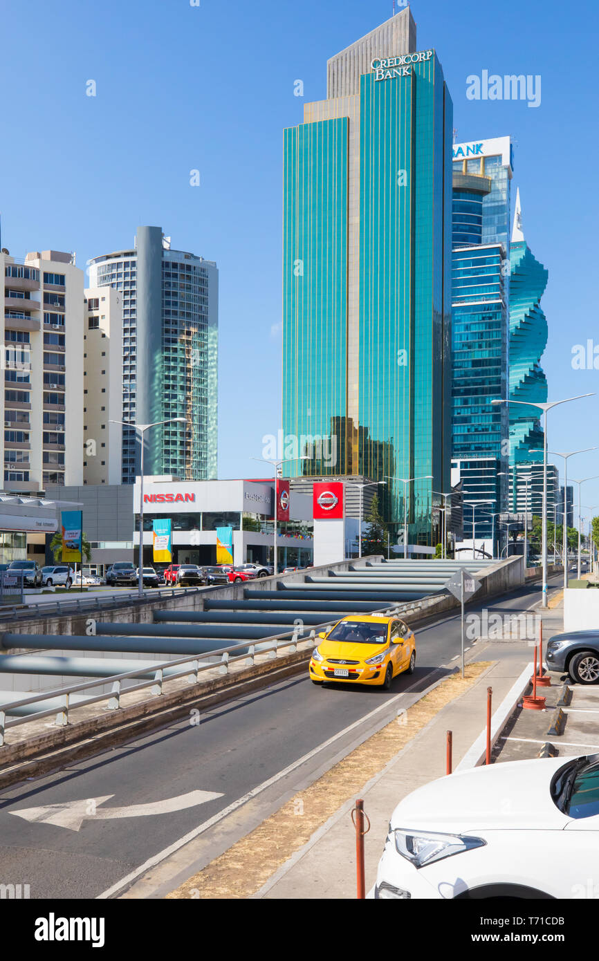 Obarrio district Panama City view from the fiftieth street - Stock Image