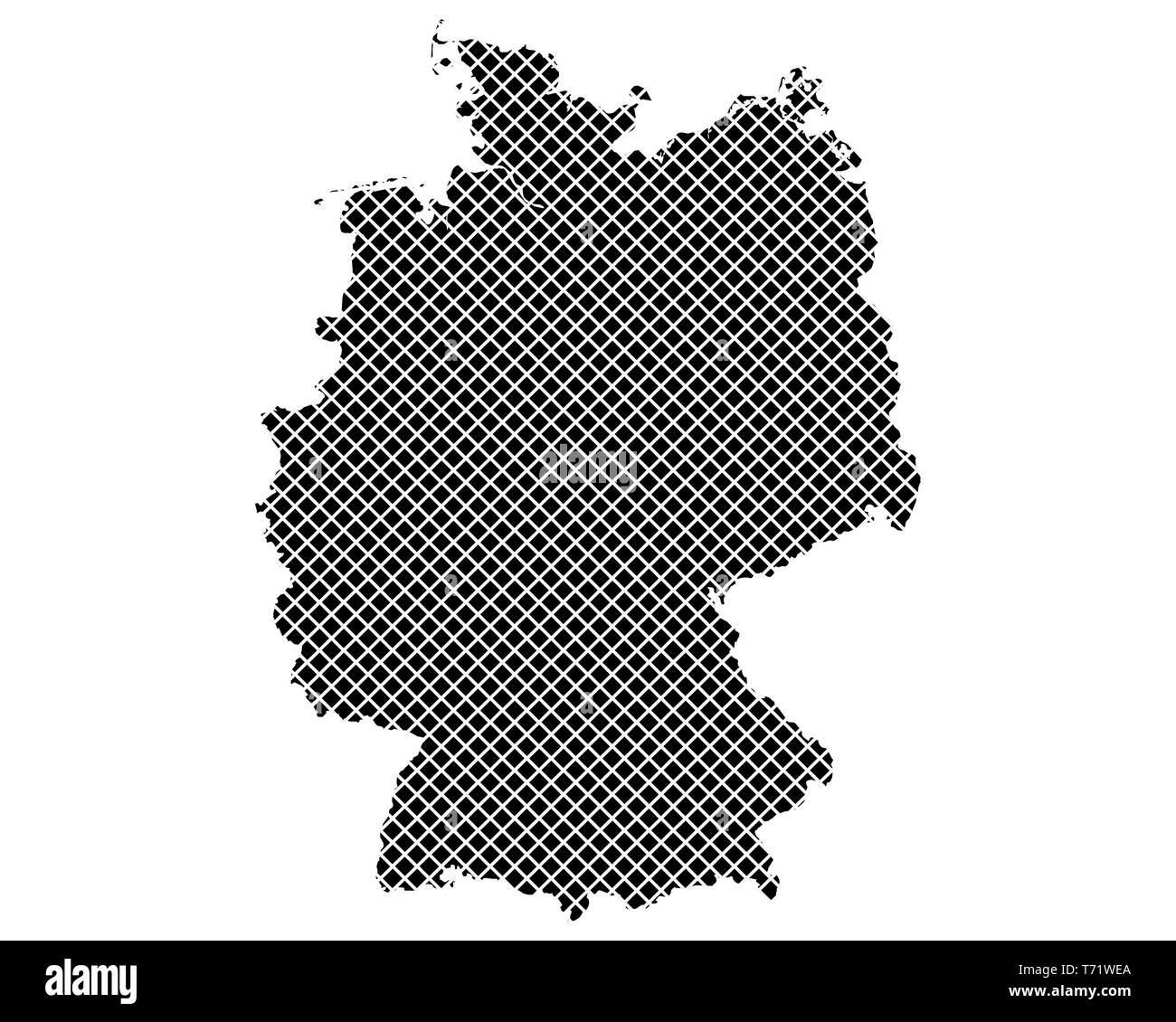 Simple Map Of Germany.Map Of Germany On Simple Cross Stitch Stock Photo 245289698 Alamy