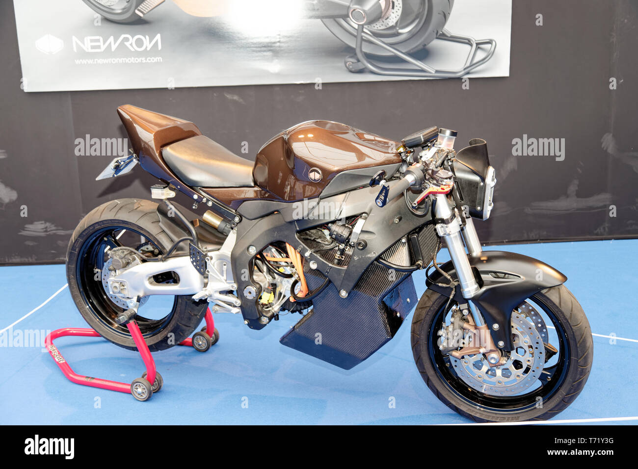 Newron Concept, electric motorcycle at the 34th International Automobile Festival.Credit:Veronique Phitoussi/Alamy Stock Photo - Stock Image
