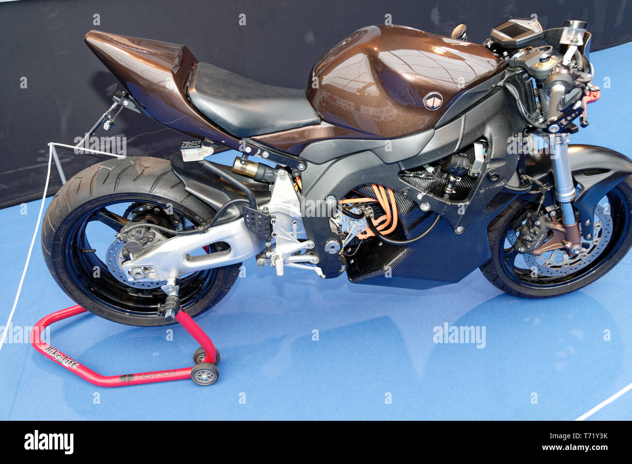 Newron Concept, electric motorcycle at the 34th International Automobile Festival.Credit:Veronique Phitoussi/Alamy Stock Photo Stock Photo