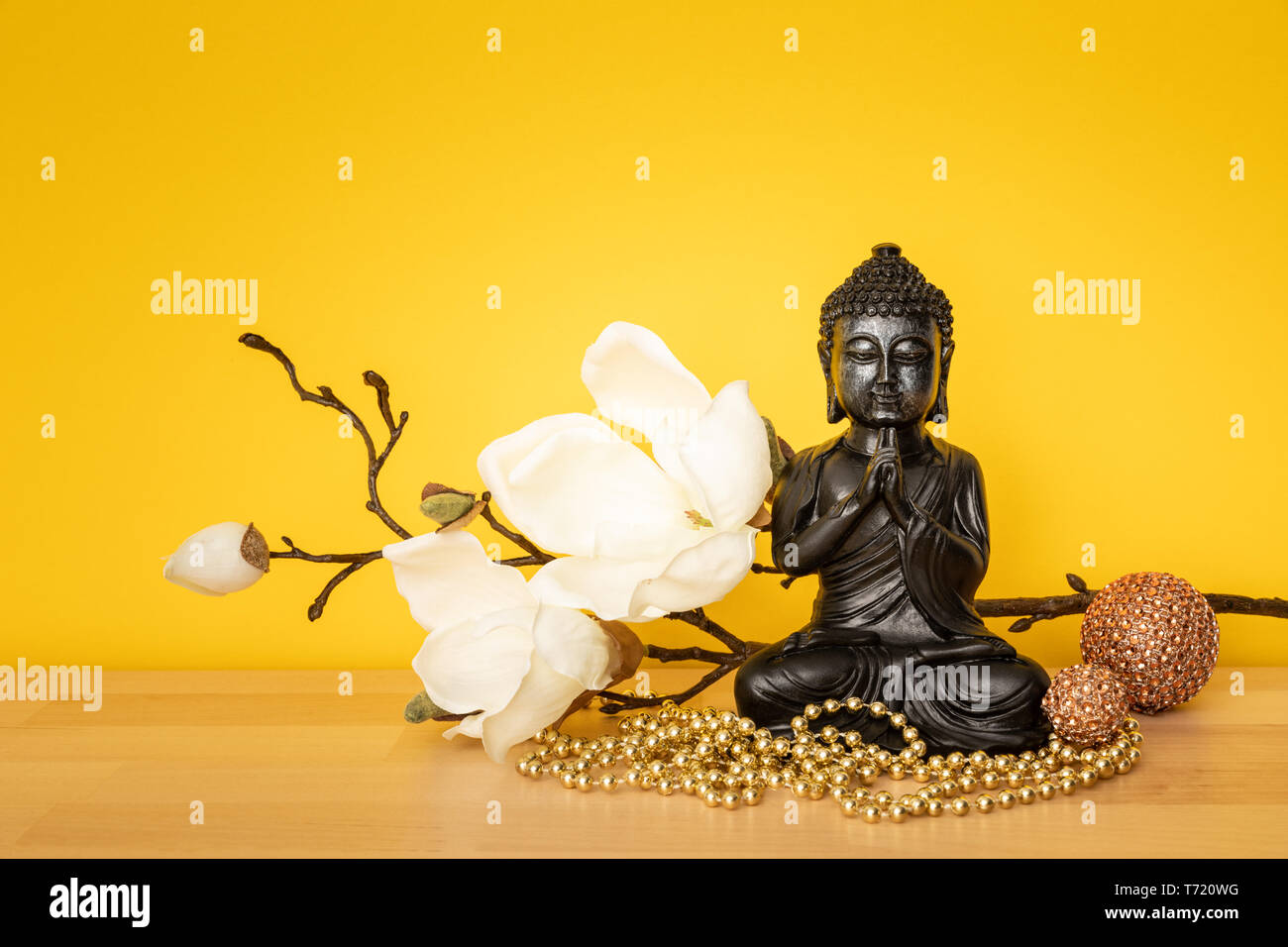 buddha statue sign for peace and wisdom - Stock Image