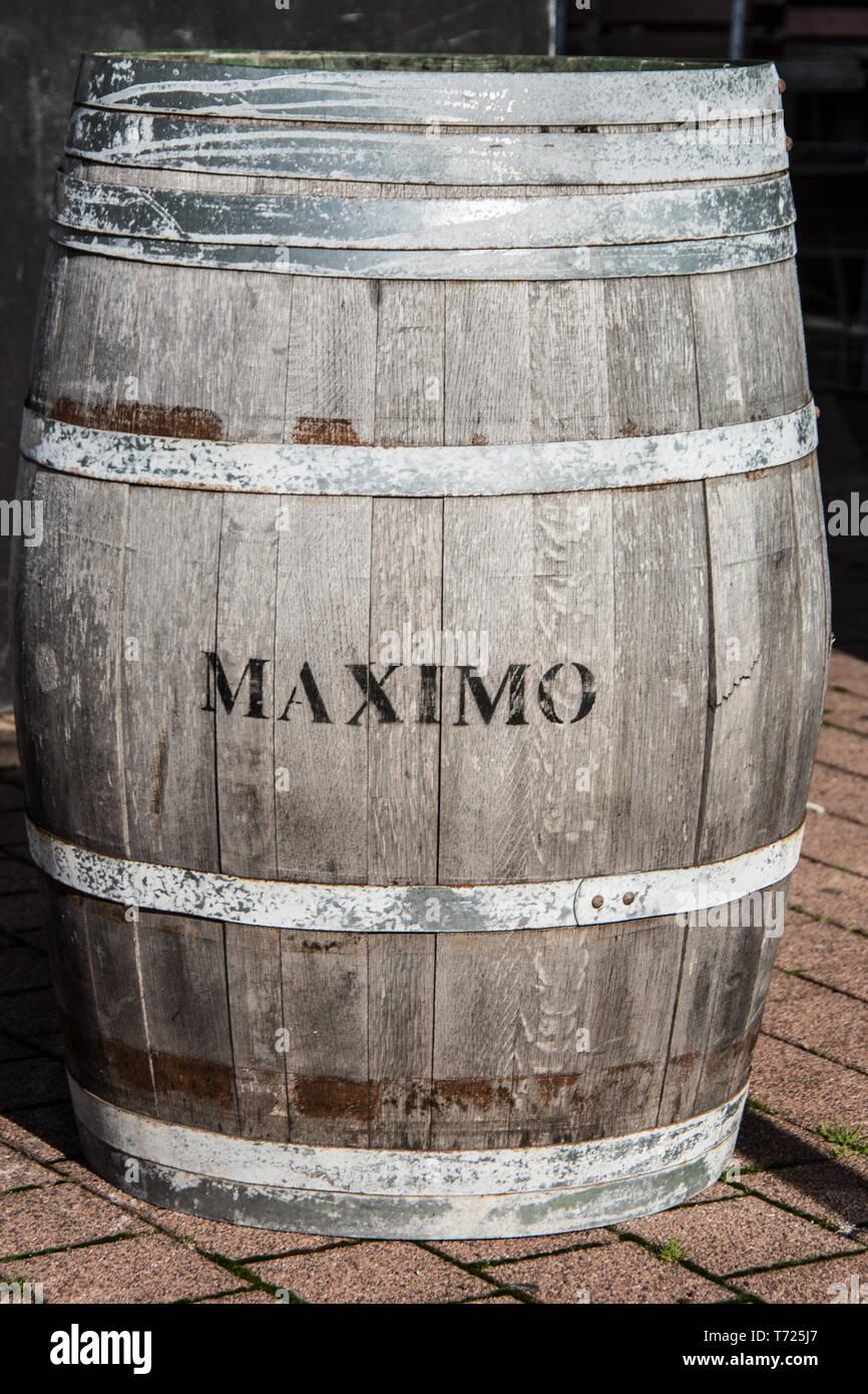 Big Wooden Beer Barrel Stock Photo 245296079 Alamy