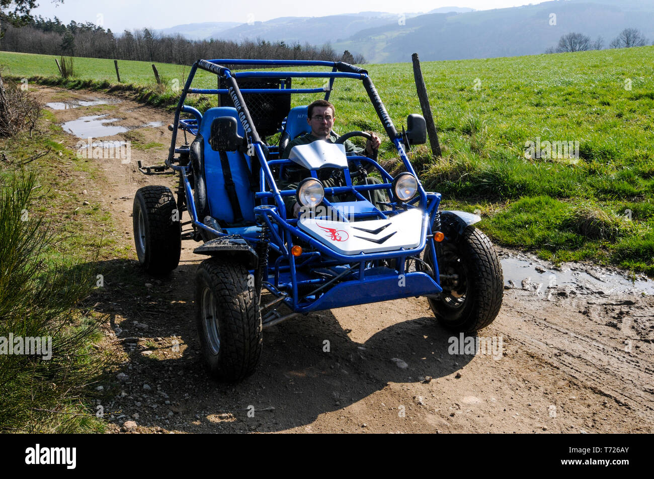 Buggies available for disabled drivers, Loire, France - Stock Image