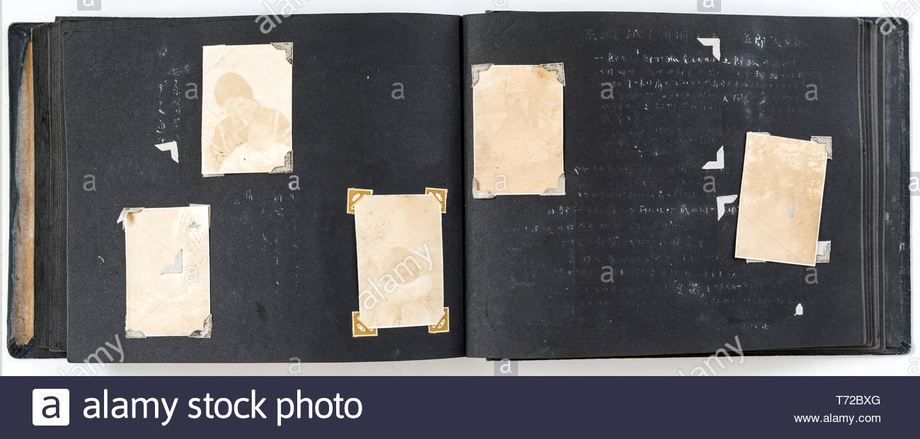 photo album with missing and fading images Japan ca late 1940s Stock Photo