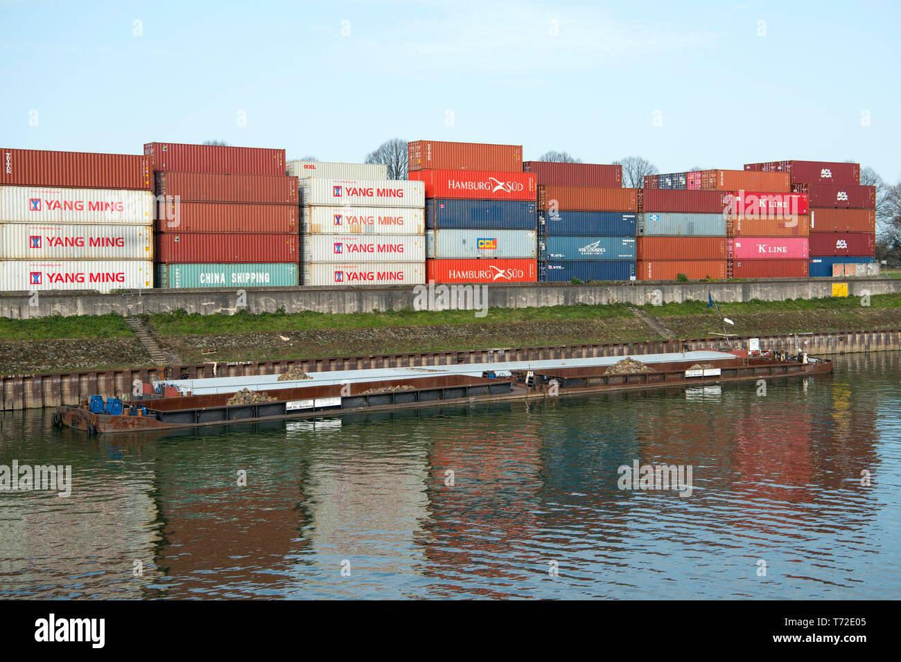 Deutschland, Köln, Niehl, Hafen - Stock Image