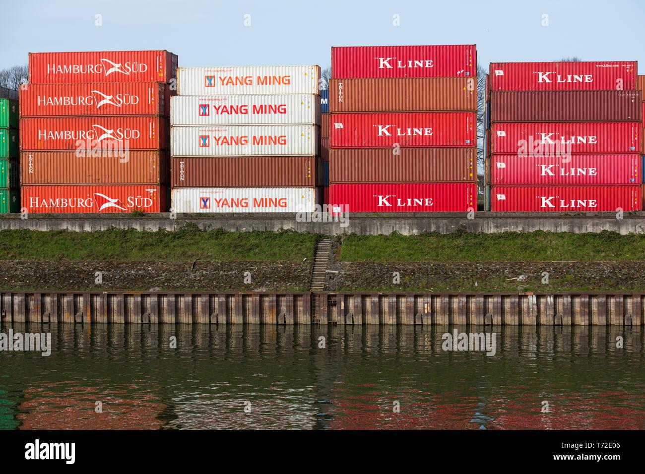 Deutschland, Köln, Niehl, Hafen Stock Photo