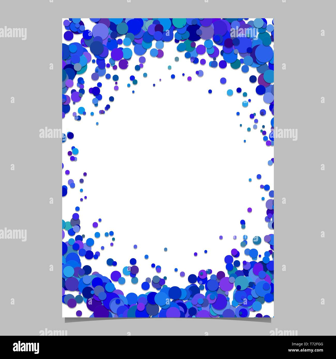 Blank Abstract Confetti Dot Flyer Background Vector Page