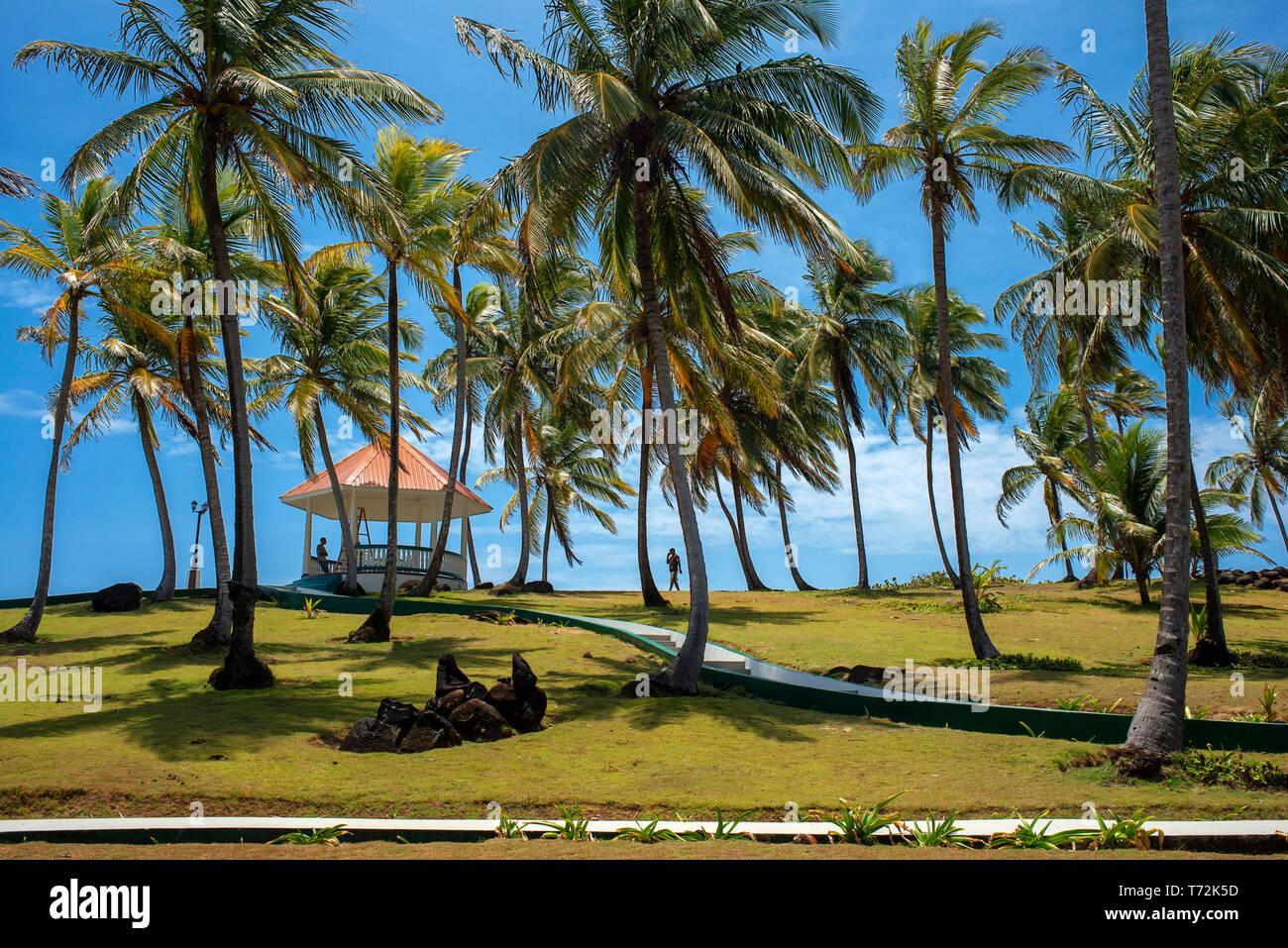 Weekend house of President Daniel Ortega, Big Corn Island, Caribbean Sea, Nicaragua, Central America Stock Photo