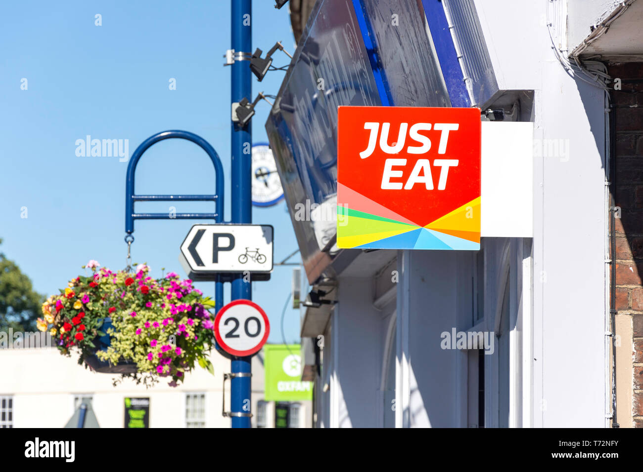 Just Eat Sign Stock Photos Just Eat Sign Stock Images Alamy