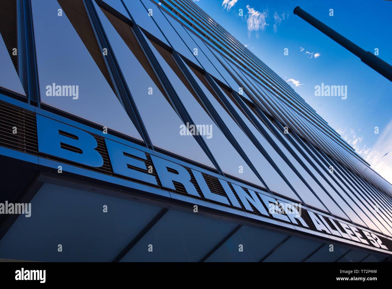 German Street Architecture - Berliner Allee - Stock Image