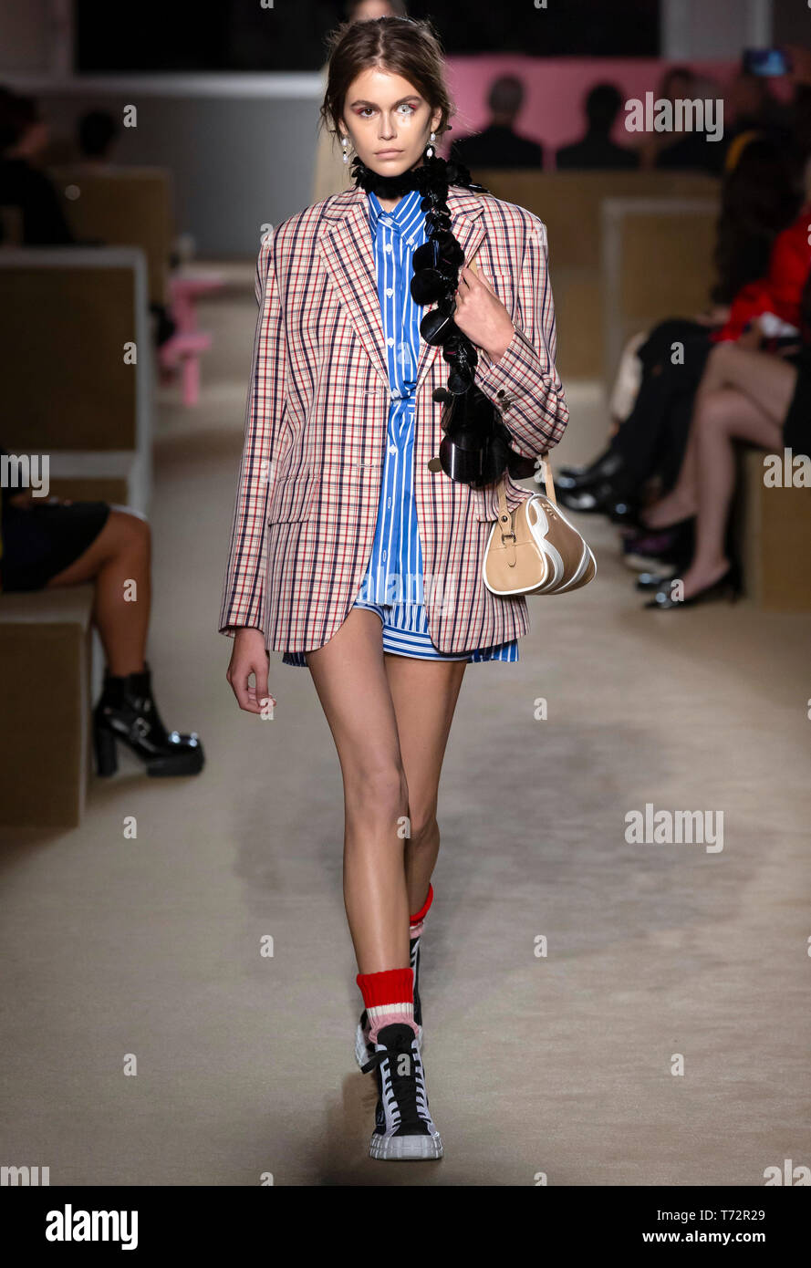 New York, NY - May 02 2019: Kaia Gerber walks the runway