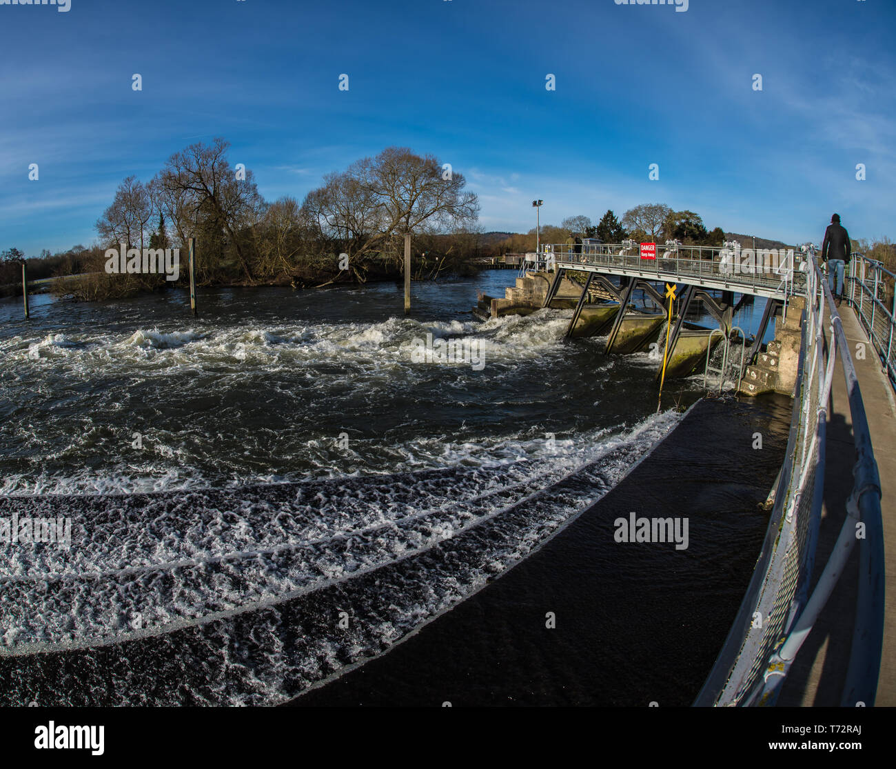 Weir. - Stock Image