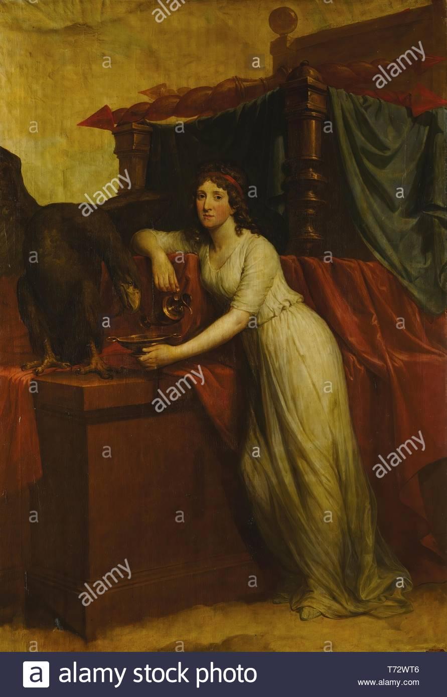 Hugh Douglas Hamilton-Portrait Of Elizabeth, Countess Of Aldborough, As Hebe - Stock Image
