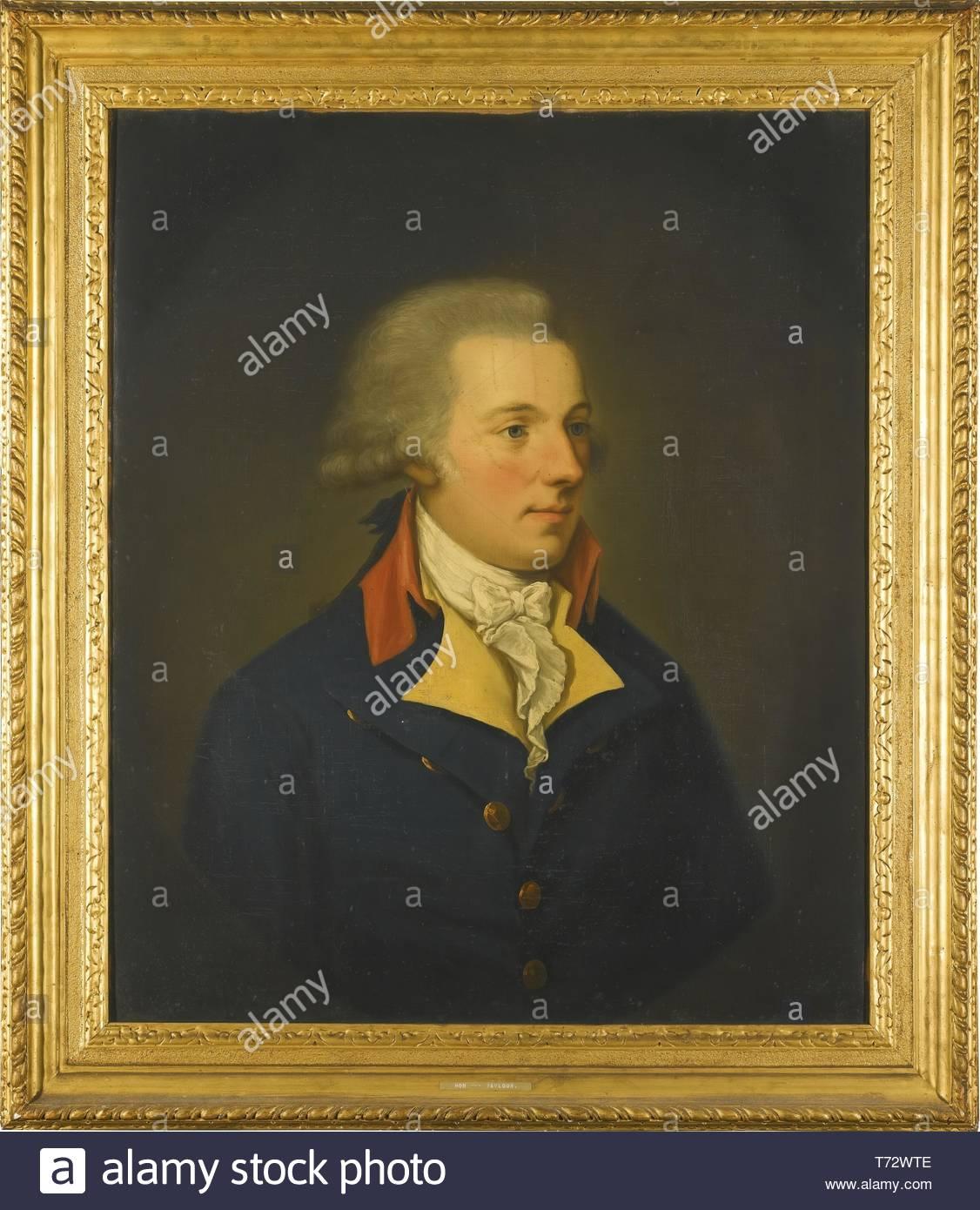 Hugh Douglas Hamilton-PortraitOf A Gentleman, Possibly The Hon - Stock Image